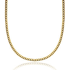 14K Yellow Gold 3.15 MM Curb Necklace 26