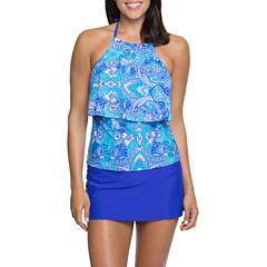 Aqua Couture Halterkini or Solid Swim Skirt