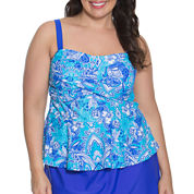 Aqua Couture Bandeau Swimsuit Top-Plus