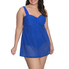 Aqua Couture Crochet Swim Dress Plus