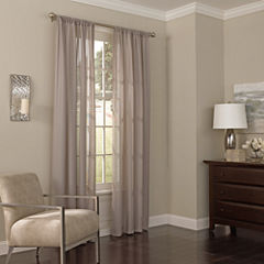 Eclipse Chelsea Rod-Pocket Sheer Curtain Panel