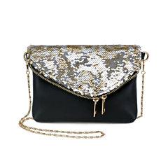Olivia Miller Farrah Sequin Flap Envelope Shoulder Bag