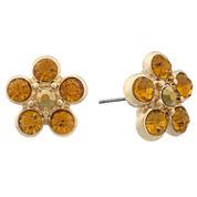 Monet Jewelry Brown Stud Earrings