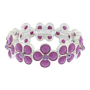 Liz Claiborne Womens Purple Stretch Bracelet