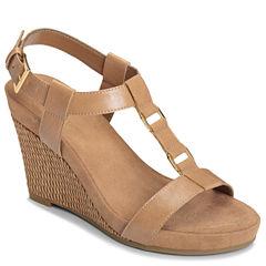 A2 by Aerosoles Plush Nite Womens Wedge Sandals
