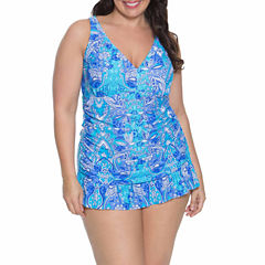 Aqua Couture Swim Dress Plus