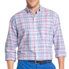 IZOD Oxford Plaid Long Sleeve Button-Front Shirt