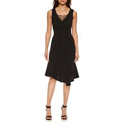 Bisou Bisou Lace Up Dress