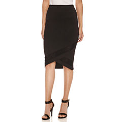 Bisou Bisou Illusion Pencil Skirt