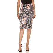 Bisou Bisou Side Tab Pencil Skirt