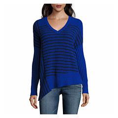 A.N.A Assymetrical Stripe Pullover Sweater-Talls