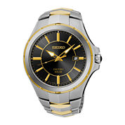 Seiko® Coutura Mens Two-Tone Stainless Steel Solar Bracelet Watch