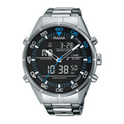 Pulsar® Mens Black Analog/Digital Chronograph Watch
