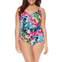 Le Cove Floral One Piece Swimsuit - Plus
