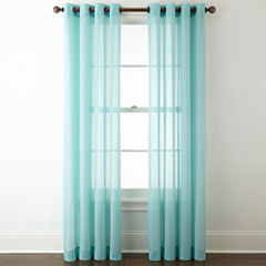 JCPenney Home Batiste Grommet-Top Sheer Curtain Panel