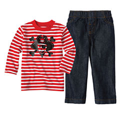Baby Boy Okie Dokie Graphic Tee or Denim Pant