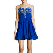 My Michelle® Strapless Embellished-Bodice Party Dress