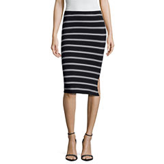 Decree Side Slit Pencil Skirt - Juniors