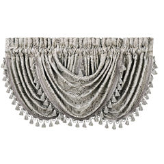 Queen Street Christina Rod-Pocket Waterfall Valance