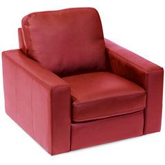 Leather Possibilities Track-Arm Swivel Chair