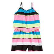 Total Girl® Sleeveless Striped Romper - Girls 7-16 and Plus