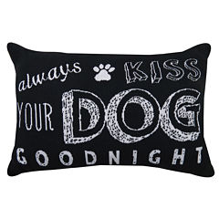 Park B. Smith® Always Kiss Your Dog Goodnight Tapestry Decorative Pillow