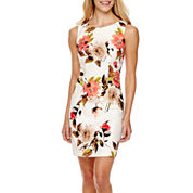 Alyx® Sleeveless Floral Print Sheath Dress