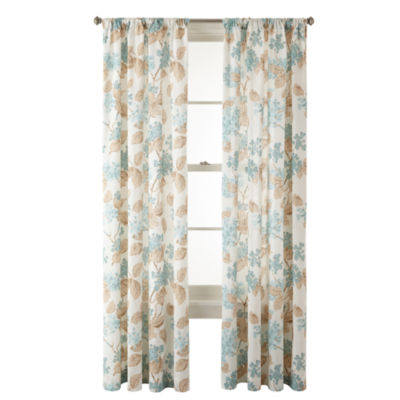... Martha Stewart Shower Curtains. MarthaWindow™ Hydrangea Rod Pocket  Cotton Curtain Panel