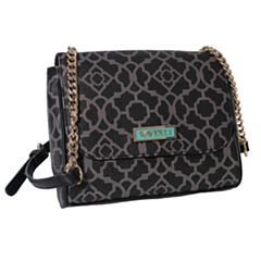 Waverly Lattice Flap Crossbody Bag