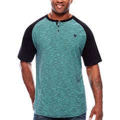 Zoo York Short Sleeve Henley Shirt-Big and Tall