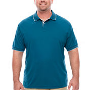 Claiborne Solid Performance Polo T-Shirt
