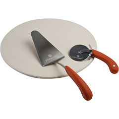 "Charcoal Companion® Pizzacraft® 3-pc. 16"" Pizza Stone with Cutter & Server Set"