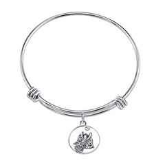 Inspired Moments™ Sterling Silver Angel Bangle Bracelet