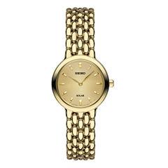 Seiko Womens Gold Tone Bracelet Watch-Sup352
