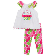 Rare Editions 2-pc. Legging Set-Toddler Girls