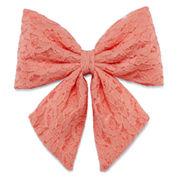 Carole Peach Flower Lace Hair Bow