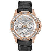 Bulova Mens Black Strap Watch-98c125