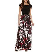 S. L. Fashions Short Sleeve Maxi Dress