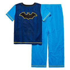 Boys 2-pc. Short Sleeve DC Comics Kids Pajama Set-Big Kid short sleeve