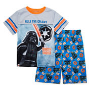 Boys Short Sleeve Lego Kids Pajama Set-Big Kid