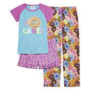 Stargate I Donut Care Short-Sleeve 3-pc. Pajama Set - Preschool Girls 4-6x