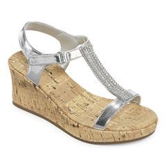 Arizona Lyra Girls Wedge Sandals - Little Kids/Big Kids