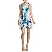 Worthington Sleeveless Fit & Flare Dress