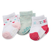 Carter's® 3-pk. Cutie Socks - Baby Girls newborn-24m