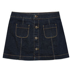 Arizona Solid Denim Skorts - Big Kid Girls