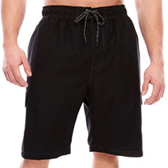 The Foundry Big & Tall Supply Co. Solid Cargo Solid Swim Shorts Big and Tall