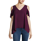 a.n.a Cold Shoulder Rayon Blouse