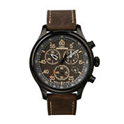 Timex Mens Brown Strap Watch-T496319j