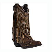 Dingo® Heart Throb Womens Fringe Western Boots