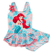 Disney Collection 2-pc. Ariel Swimsuit - Girls 2-10